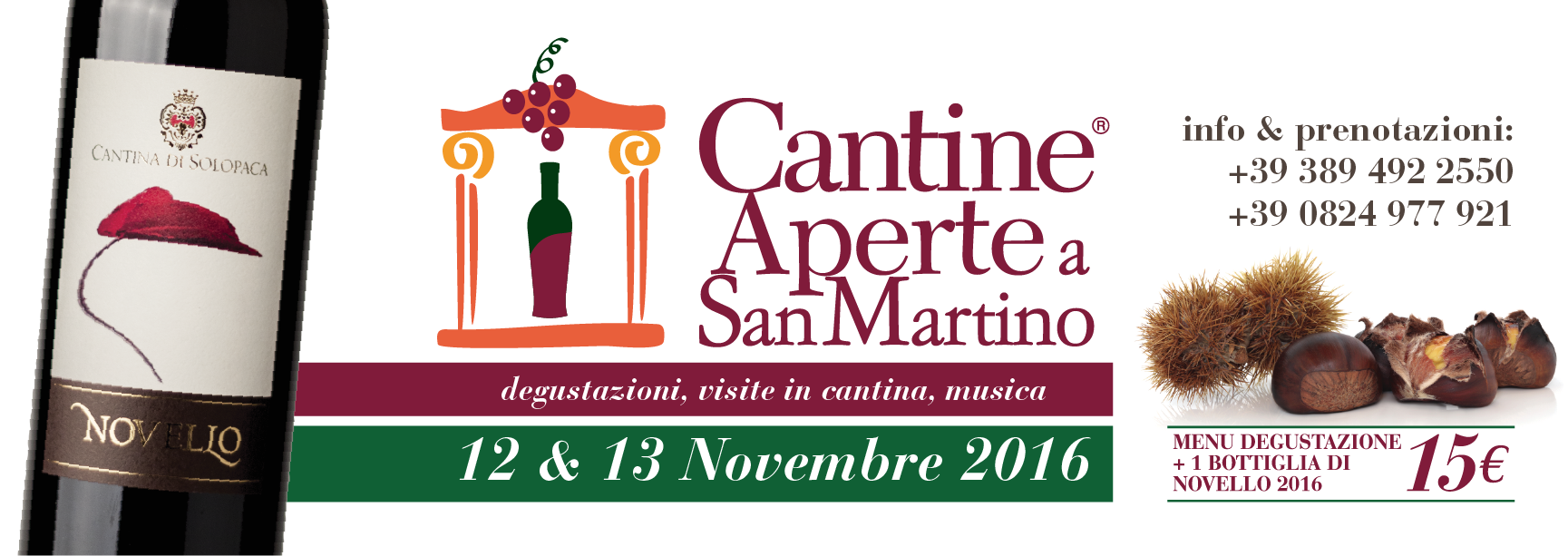 Cantine Aperte a San Martino 12 e 13 Novembre 2016