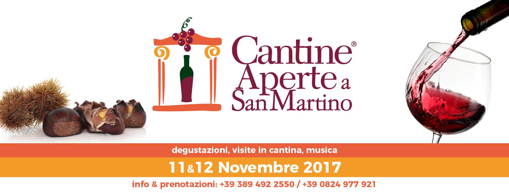 Cantine Aperte a San Martino 11 e 12 Novembre 2017