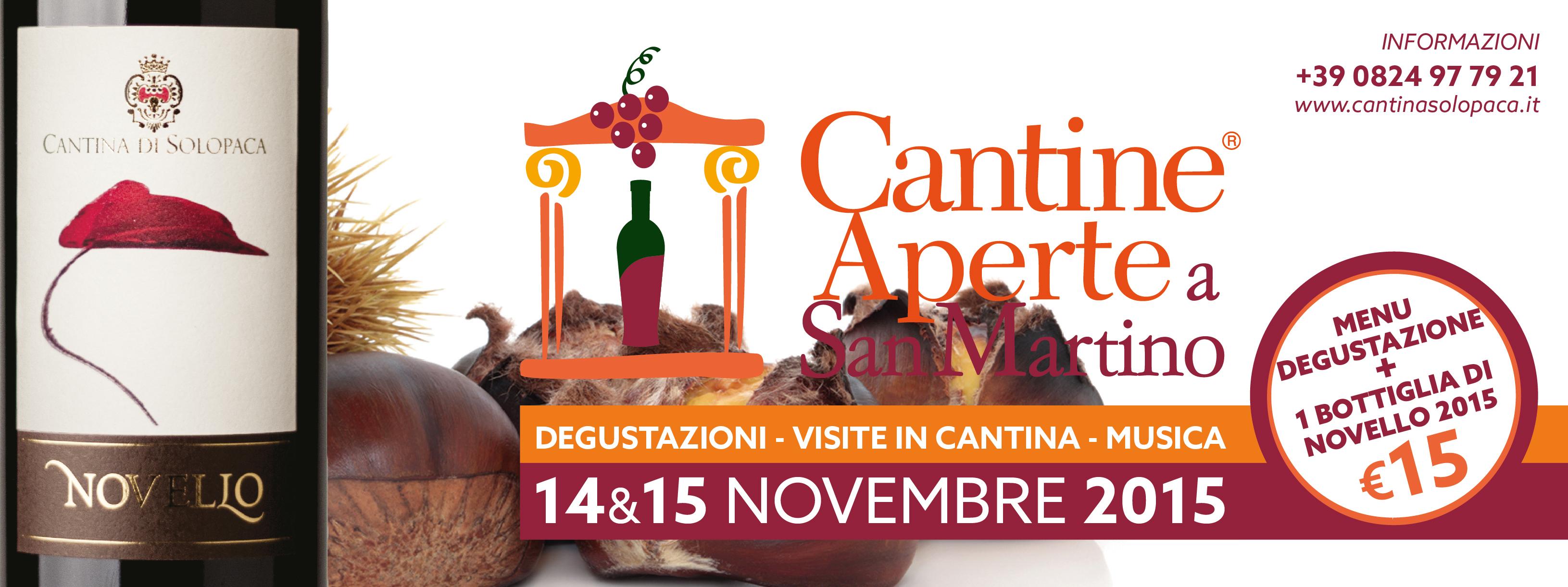 Cantine Aperte a San Martino 14 e 15 Novembre 2015