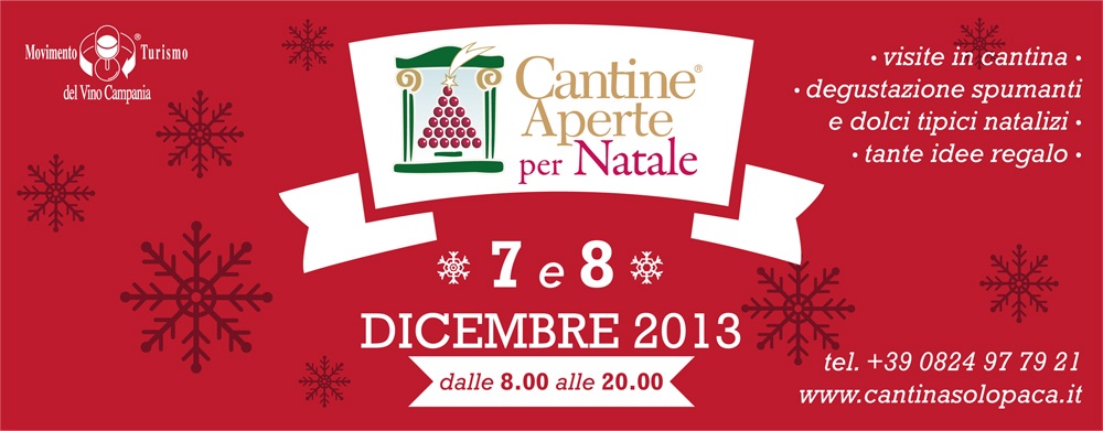 Cantine Aperte per Natale 7 e 8 Dicembre 2013