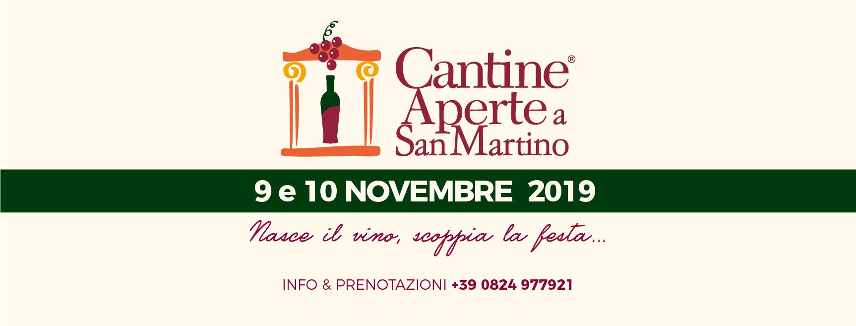 Cantine Aperte a San Martino 9 e 10 Novembre 2019