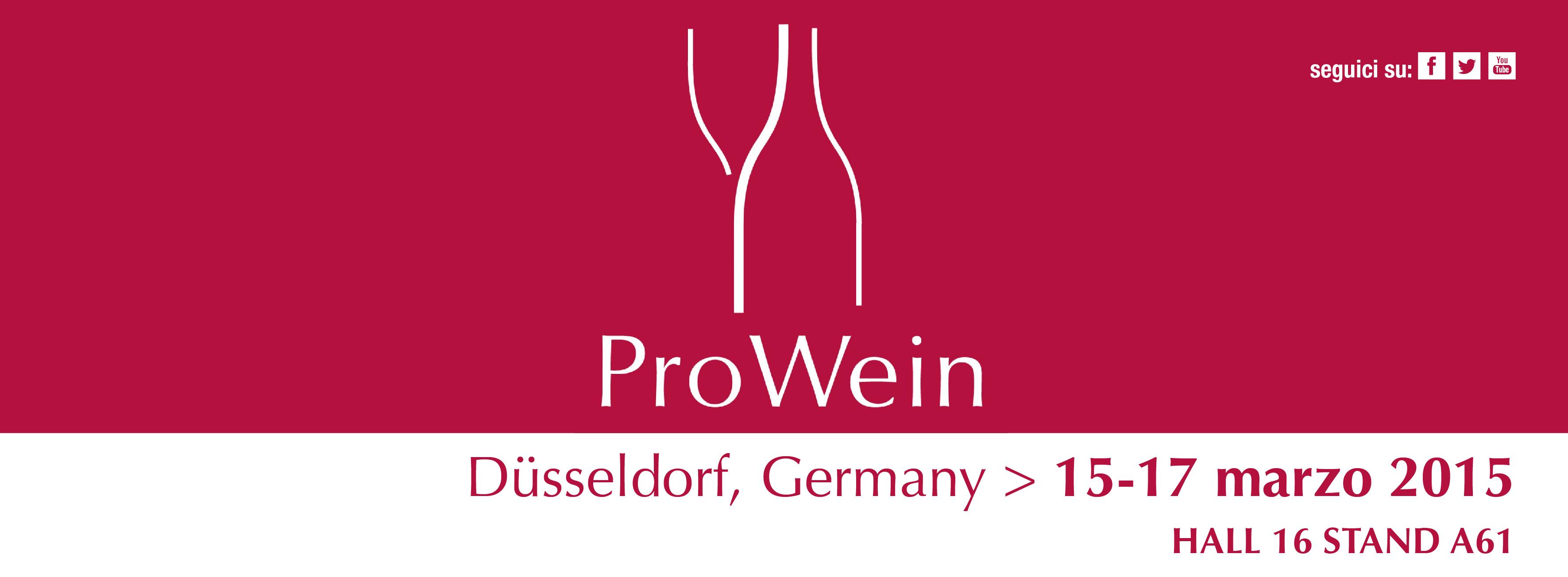ProWein 2015 dal 15 al 17 Marzo 2015