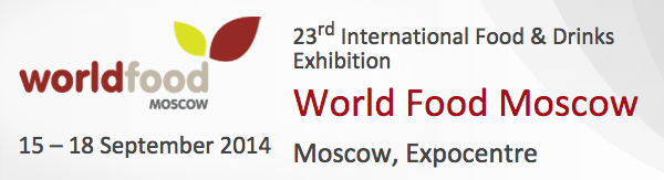 World Food Moscow 2014 dal 15 al 18 Settembre 2014